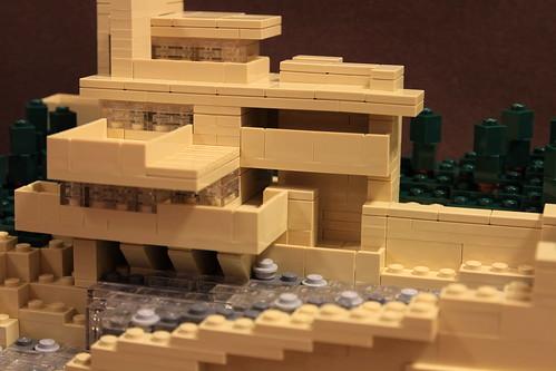 落水荘 Fallingwater Lego