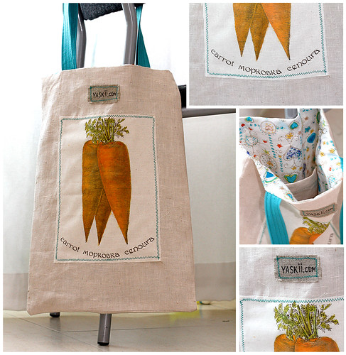 Today News. Carrot Shopping Bag by yaskii