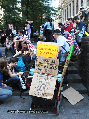 NYC Occupy Wall Street Rally Oct 8 2011 jobless