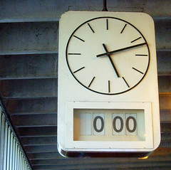 Time still stands still at Preston Bus Station (Tony Worrall Foto) Tags: uk england clock face analog digital photo 60s northwest image time north stock stop forgotten preston british sixties stopped relic abandonnded 2011tonyworrall