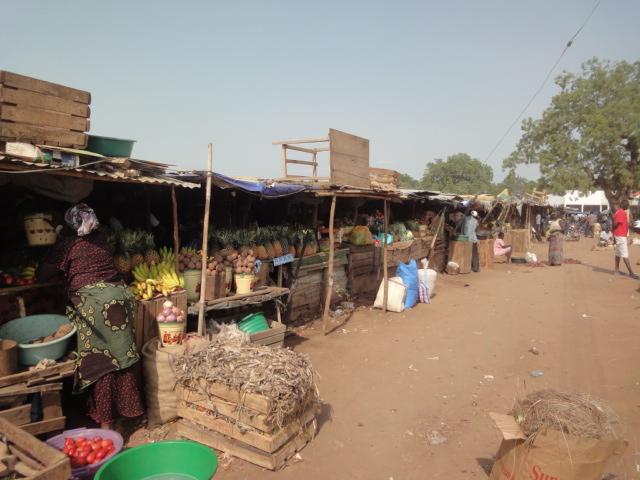 Mercado de Konyo Konyo em Juba, Sudão do Sul