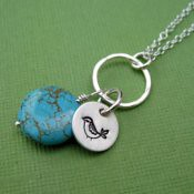 Sweet Bird and Turquoise Necklace