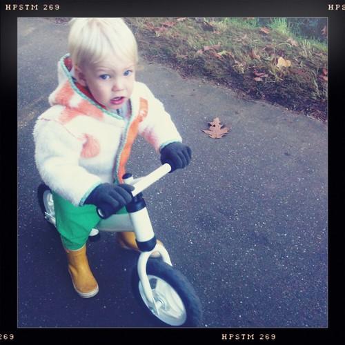 Abel fietst