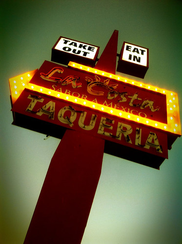 La Costa Taqueria Neon Sign with Lomo app for iPhone by sueism1