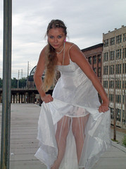 DSCF0054 (Cathus) Tags: woman girl bride ruins dress warehouse gown