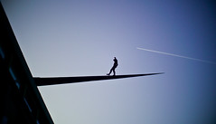 keep in balance (Artrian) Tags: blue sky architecture plane germany artwork kunst aircraft himmel bluesky balance blau flugzeug blauerhimmel mannheim kunsthalle kunstwerk m43 mft cmount micro43 microfourthirds cmountonmicro43 panasoniclumixdmcg3 cmountonm43 cosmicarpentax25mmf14cmount