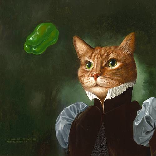Donald Roller Wilson, Howard Dressed UP Like a Cat; Pepper Green Replace the Moon, 1977