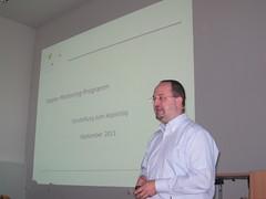 Dr. Michael Stelter stellt das Mentoring-Programm vor