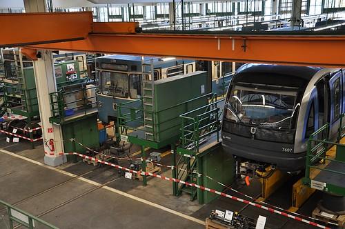 Nur sehr selten haben Besucher Einblick in den Betriebshof Nord der Münchner U-Bahn