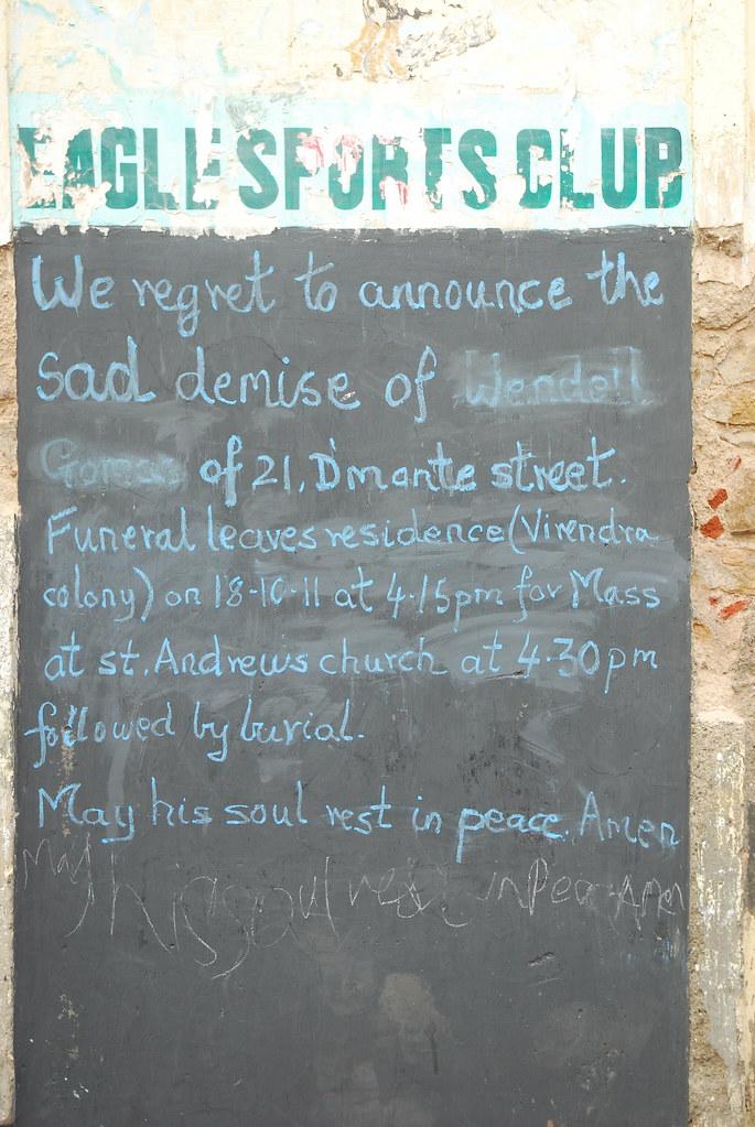 RIP .. Wendell Gomes of Bandra De Monte Street ..