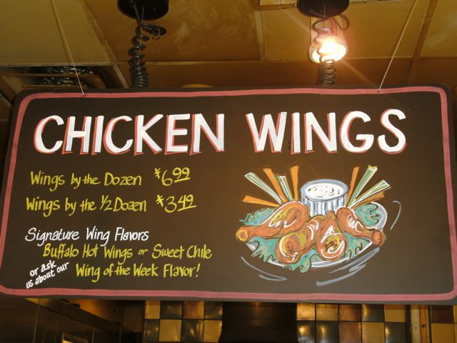 Chicken Wing Chalkboard
