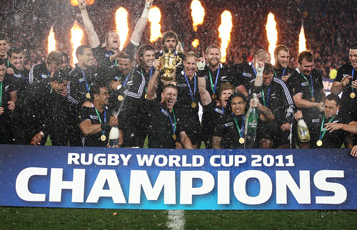 Rugby World Cup 2011 Final - The All Blacks world champions team photo 23/10/2011