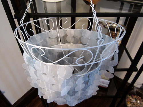 Wax Paper Capiz Shell Chandelier