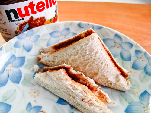 IMG_2111 Tea break : Nutella cheese slices bread