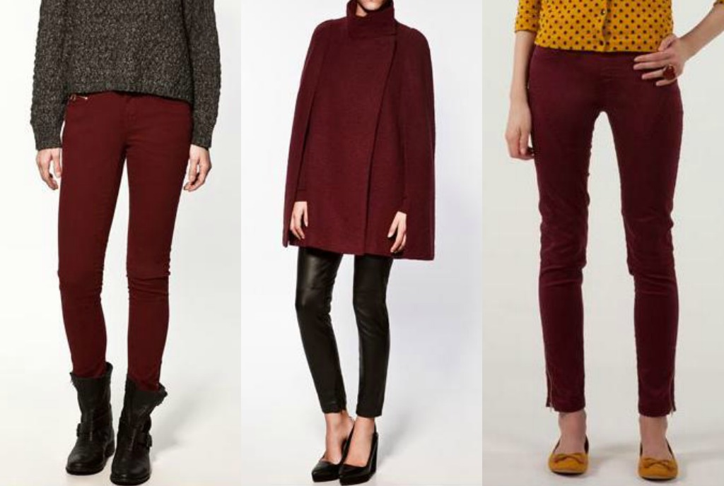 Burgundy Zara and BSK