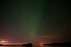 Astotin Lake Aurora (Sean Gordon) Tags: longexposure night edmonton alberta northernlights afterdark auroraborealis elkislandnationalpark