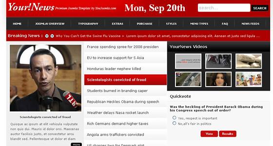 YourNews – YouJoomla News Portal For Joomla