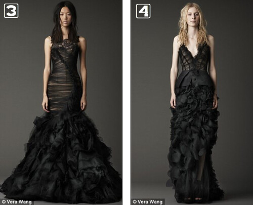 Which One Of These Black Vera Wang Wedding Dresses Would You Wear