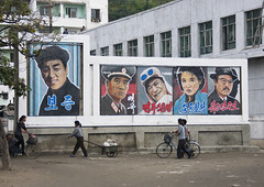 Movies posters in Hamhung - North Korea (Eric Lafforgue) Tags: war asia korea asie coree northkorea dprk coreadelnorte nordkorea    0389 coreadelnord   insidenorthkorea  rpdc  kimjongun coreiadonorte