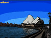 Viewing the opera house (Doug from the UK) Tags: blue sky brown white reflection water lamp lines sunshine shirt stairs buildings cutout river circle poster person lights opera waves glare looking post harbour edited photoshopped towers north cartoon sydney shell australia bluesky circularquay quay clear part lamppost nsw newsouthwales ripples railing operahouse viewing leaning sweep northsydney circular outlined clearsky towerblocks lined parramatta portjackson parramattariver shellshaped sweap cmwd cmwdblue circularquayeast mygearandme mygearandmepremium circularquaye douglask3github