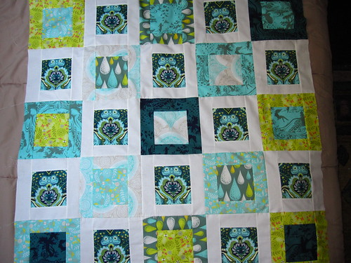 Frog Prince quilt top by sewtherapeutic
