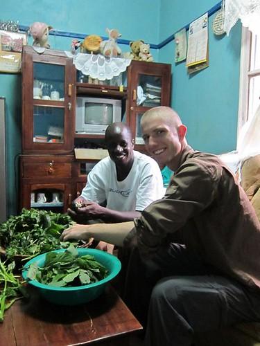cooking kenyan food kisumu kenya