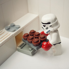 Imperial Cupcakes (Balakov) Tags: kitchen star muffins cupcakes baking lego stormtrooper wars