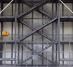 Paris (Stephen Laverack) Tags: paris yellow architecture stairs grey piano diagonal staircase rogers pompidou beaubourg