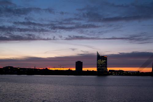 Riga, il tramonto sul Daugava