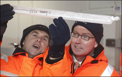 Greg Barker observes Ice Core at BAS