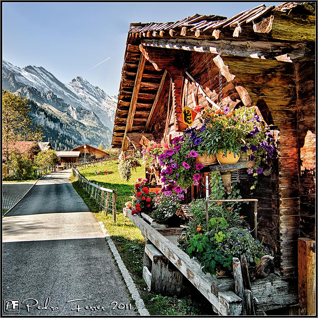 Suiza - Pueblos con encanto - Gimmelwald - Calle Mayor