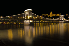 Chain bridge - Puente de las cadenas (kinojam) Tags: bridge canon puente kino hungary budapest nocturna danube hungria chainbridge danubio puentedelascadenas canon60d mygearandme mygearandmepremium kinojam