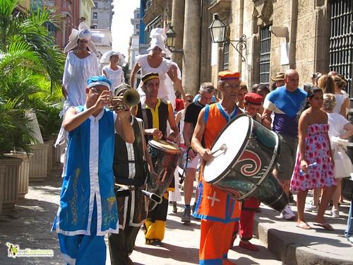 Street Performers in Havana Vieja Cuba