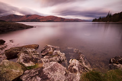 Loch Linnhe (Jo_Krazy) Tags: trees water scotland rocks long exposure fort tripod william land glencoe loch anawesomeshot 10603ndgrad