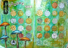 Art Calendar - October finished! (thekathrynwheel) Tags: diary artjournal journaling stampotique artcalendar