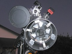 Eight and six inch scopes with cameras (edhiker) Tags: weight edhiker flexure autoguider cgem 8inf4 dualscope