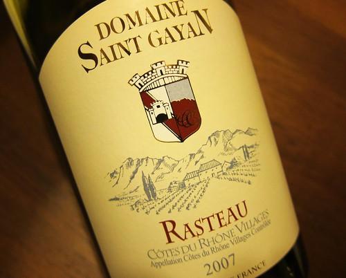 2007 Rasteau Domaine St Gayan
