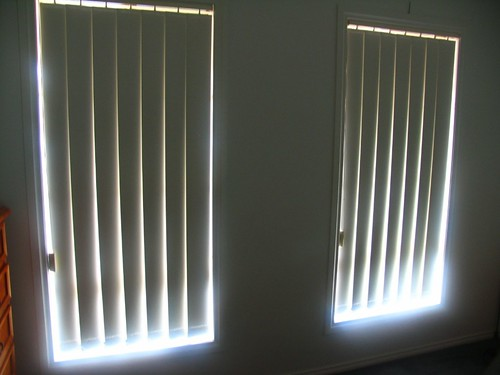 Before blackout blinds