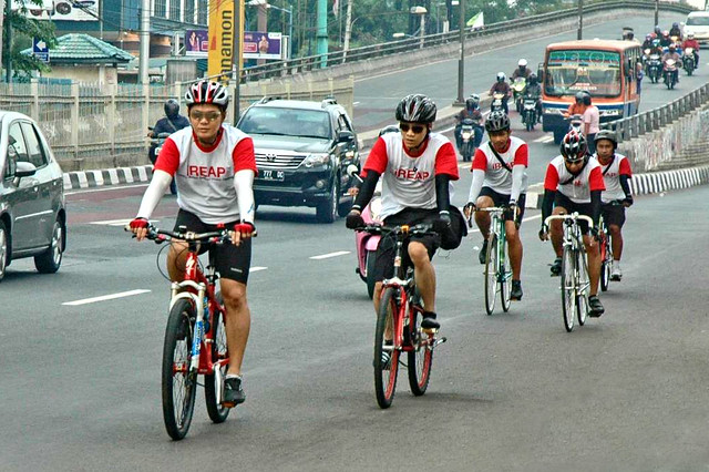 YCAB Foundation held a biking together activity with YCAB management