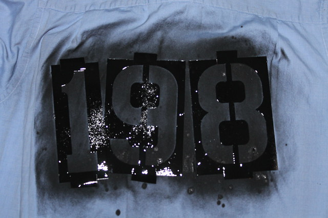 How to make a punk rock shirt with spray paint and stencils