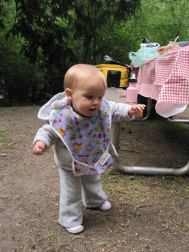 Learning to walk at the campground