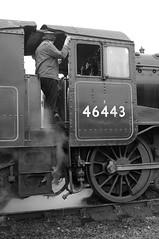 SVR 7347bw (kgvuk) Tags: station trains railwaystation railways steamlocomotive severnvalleyrailway kidderminster 46443 ivatt2mt kidderminstertown