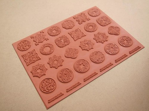 New Tesseract Knots Celtic Medallions Rubber Stamps