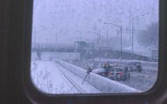 19980309 17 CTA Blue Line (O'Hare Branch) at Central Ave. (davidwilson1949) Tags: winter chicago illinois snowstorm