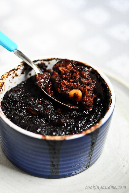 Eggless Chocolate Coffee Self-Saucing Pudding