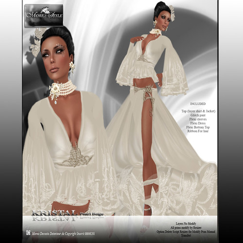 Collection MOREA STYLE FORMAL* KRISTAL Pearl Beige*, 349 lindens by Cherokeeh Asteria