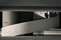 Niemeyer IX (David Vazquez) Tags: blancoynegro niemeyer spain asturias sombras avils escaleras curva