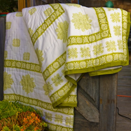 Attiser sage-geometric-quilt