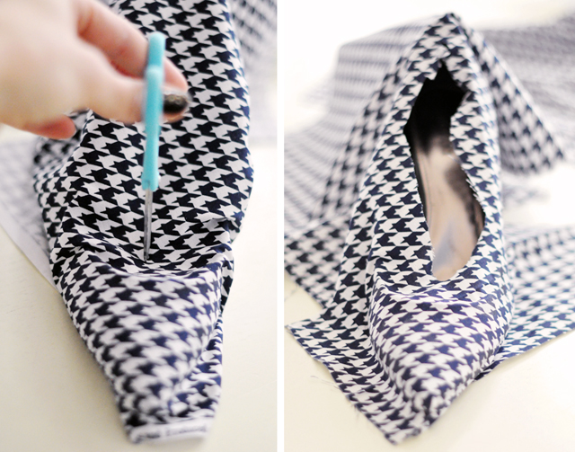 Houndstooth Shoes DIY - 17-1