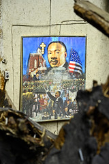 Still Dreaming ([jonrev]) Tags: portrait black building history abandoned church painting march washington office movement ruins king martin theatre african dr indiana jr palace structure civil doctor american rights junior gary decrepit luther